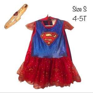 Girls Superman Supergirl Costume